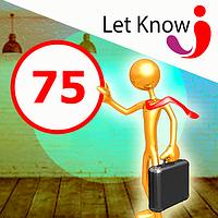 Премиум размещение 75 позиций на доске объявлений Let-Know на 1 месяц