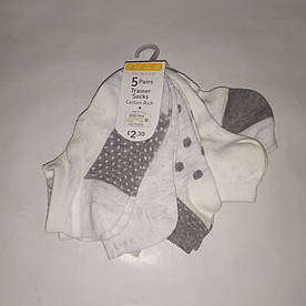 Носки детские короткие белые Primark р.27-30