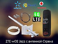 ZTE w02 Jazz WiFi роутер КОМПЛЕКТ с направленной антенной СТРЕЛА 21dbi 3G 4G LTE модем USB evdo link 8377