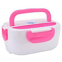 Термо ланч-бокс Electric Lunch Box YY-3168 с подогревом Розовый (up3430)