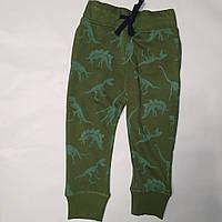 Спортивные штаны для мальчика хаки Динозавры H&M (Швеция) р.92см