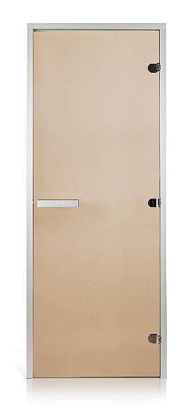 Стеклянная дверь для хамама GREUS прозрачная бронза 70/200 усиленная (3 петли) алюминий