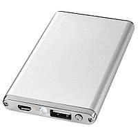 Мобильная батарея / Внешний аккумулятор / Power bank Taylor (2200 mA/ч) серебристый