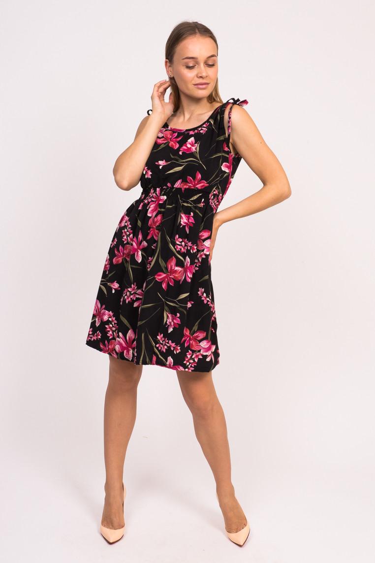 Короткое летнее платье LUREX - черный цвет, L (есть размеры)