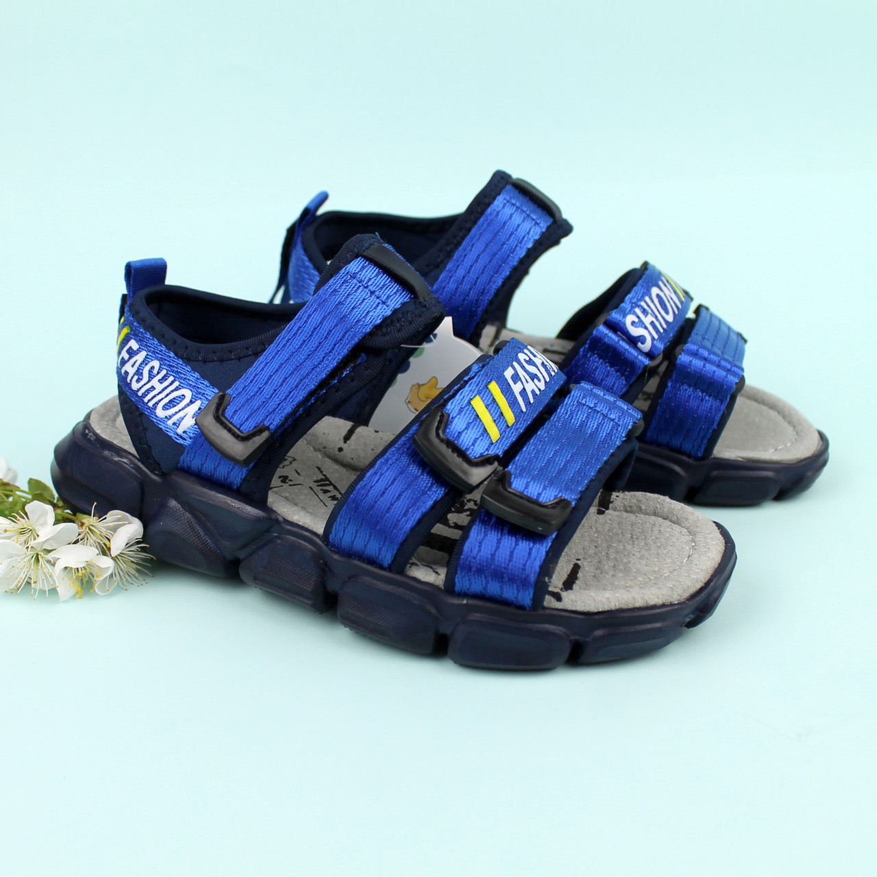 Спортивные синие босоножки мальчику Tomm размер 34,35,36