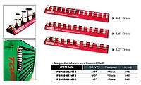 "Держатель для головок (планка магнитная) 1/4""*240*14PCS  PBKB2R2414 (Toptul, Тайвань)"