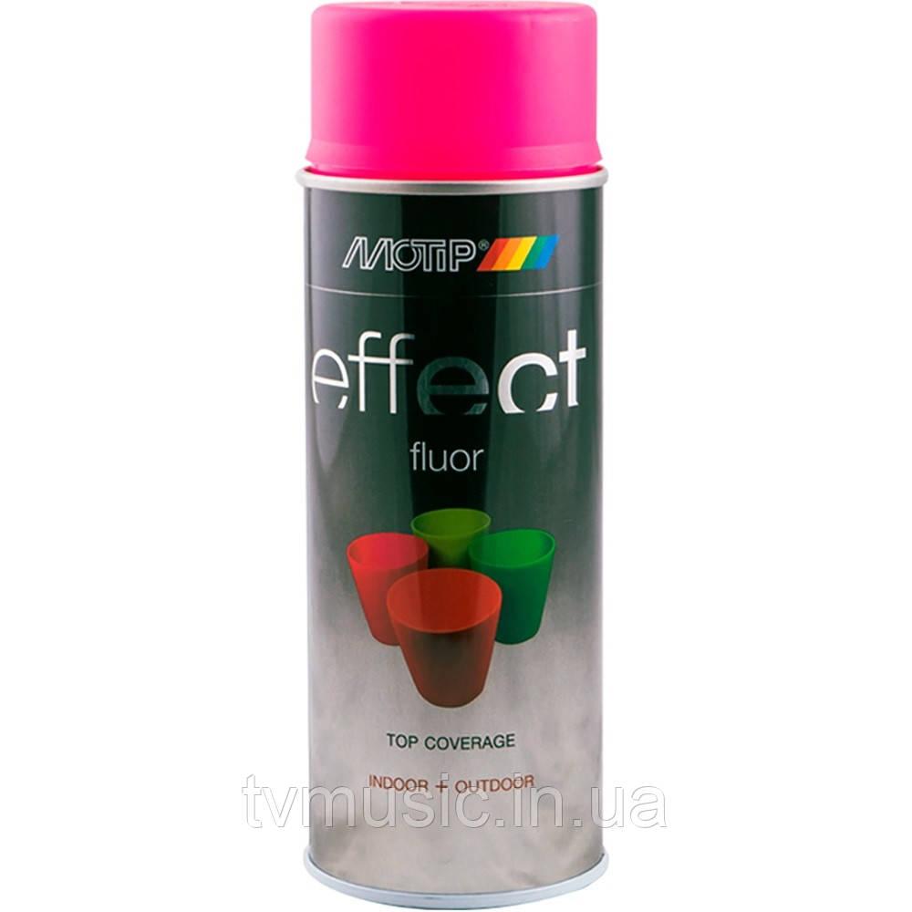 Аэрозольная флуоресцентная краска Motip Deco Effect Розовая 302302 400 мл