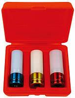 """Набор головок 1/2"""" c пластмассовой вставкой, (17, 19,21 мм) 3 предмета AmPro T75793"""