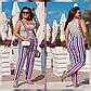 """Батальные брюки женские 810 """"Принт Полоска"""" в разных расцветках, фото 2"""
