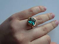 Золотое кольцо 585 с зеленым кварцем, фото 1
