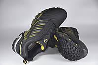 Кроссовки Bona 687Е Кожа-нубук Черные Унисекс Размеры 36-41