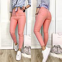 30003-02 коралловые Bikelife джинсы женские летние стрейчевые (S-XL, 8 ед.)