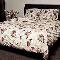 Комплект постельного белья ранфорс Розы Marcel 20-116 бежевый Двуспальный комплект