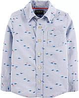 Белая рубашка с длинным рукавом ОшКош для мальчика