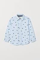 Стильная рубашка с динозаврами для мальчика