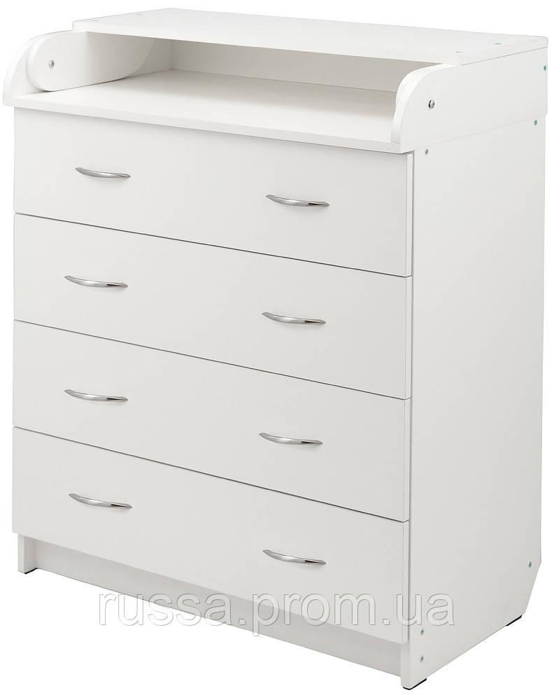 Пеленальный комод Babyroom Комод 4 тел.Big 102x80x50  белый