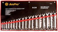 Набор ключей комбинированных (6-24мм), 18предметов AmPro T40190