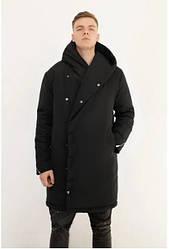Мужская  зимняя куртка DarkSide с капюшоном черная (22102)