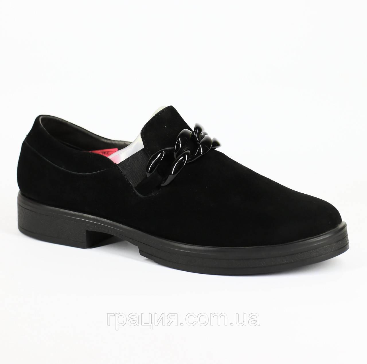 Жіночі стильні замшеві туфлі