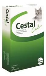 Таблетки Cestal cat Цестал Кет від глистів для котів 1 таб 4 кг 10 шт