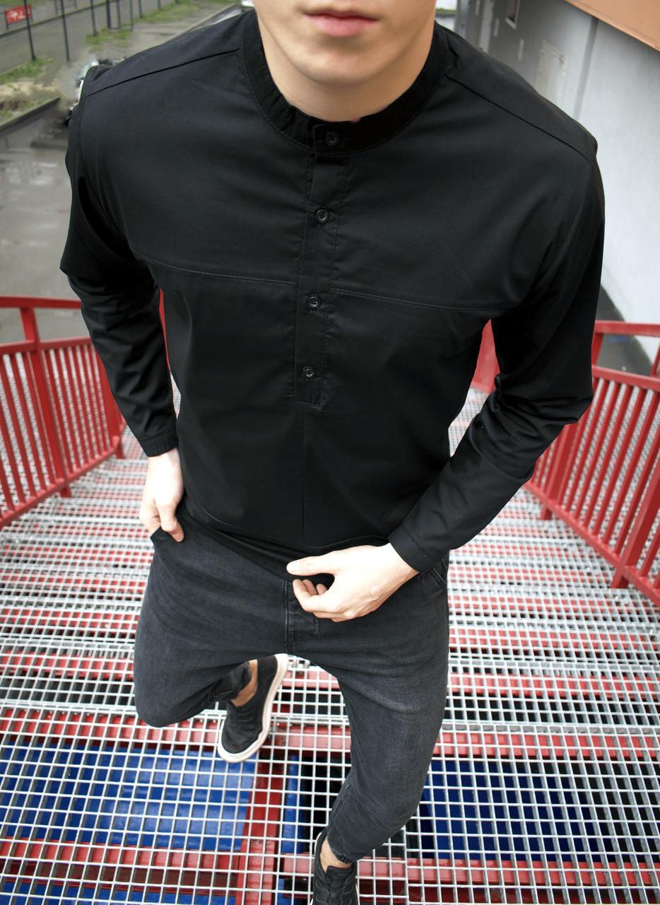 Рубашка мужская молодежная без воротника | ЛЮКС качества