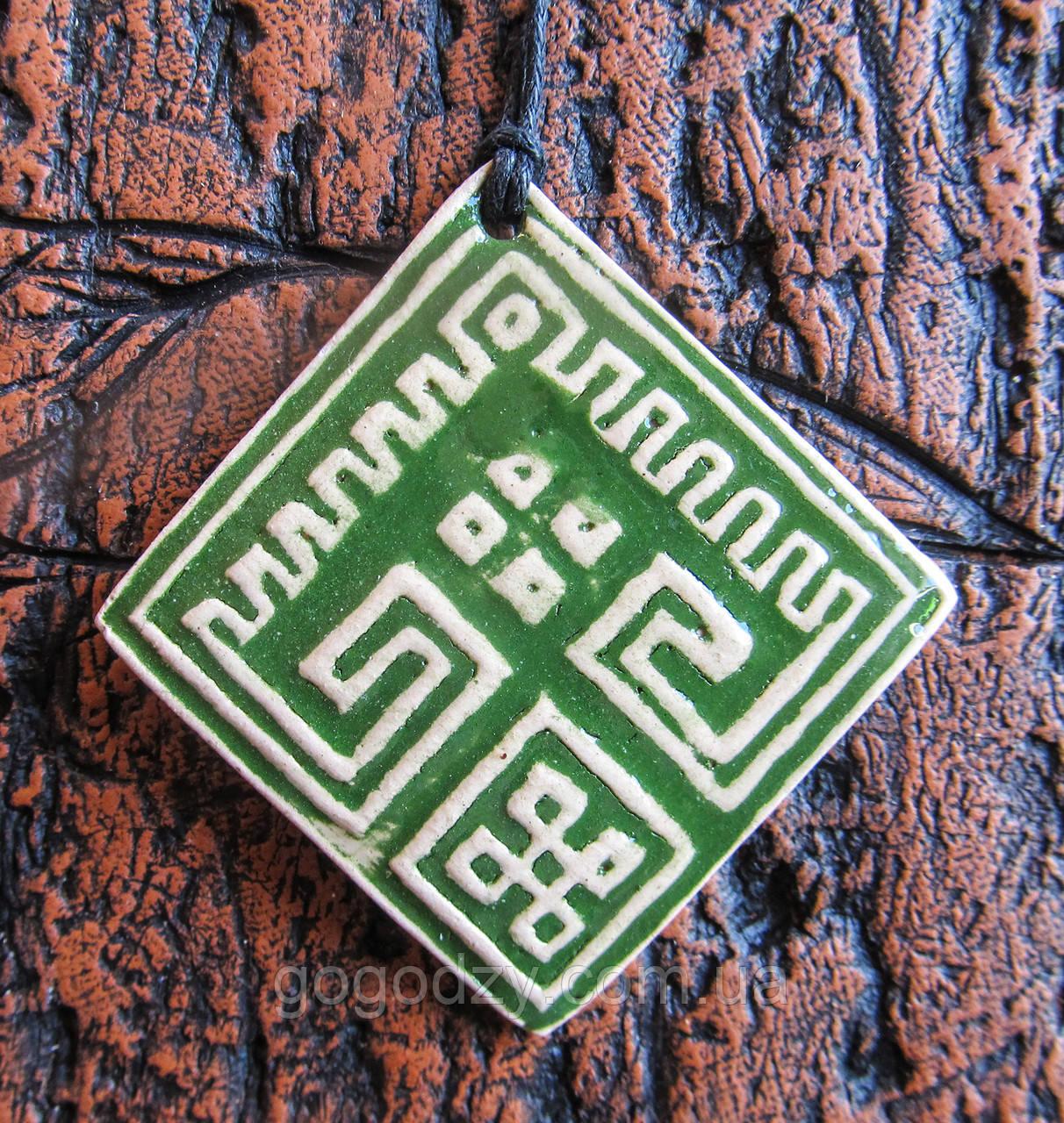 Кулон Осмолода зелений