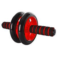 ✅ Тренажер двойное колесо для пресса Profi MS 0872 | ролик гимнастический, домашний тренажер (Гарантия 12 мес)