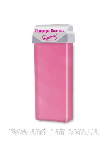 """Воск """"Розовое шампанское"""" в кассете с роликовой головкой Depileve PINK CHAMPAGNE WAX ROLL 100 мл"""