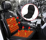 Накидка на сиденье авто с подогревом от прикуривателя Black (3538)
