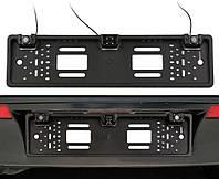 Рамка для номерного знака с камерой заднего вида и парктроником 3 в 1 UKC Black (5429)