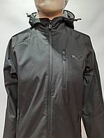 Мужская весенняя кофта ветровка легкая в стиле Puma / черная, фото 1