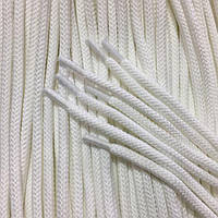 Шнурки средние с запаянными концами цв белый 90см (уп 50пар)Ф