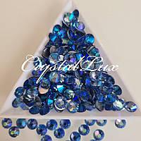 """Стразы ss30 Lt.Sapphire AB (6.5мм) 50шт """"Crystal Premium"""""""