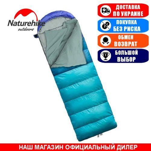 Спальный мешок фибер подкладка NatureHike U280-P; 220x75см. Туристический спальник Nature Hike NH18U001-A U280 blue