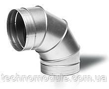 Коліно, відвод вентиляційний оцинкований 90 0,55 D200