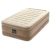 Надувная кровать односпальная с встроенным насосом 191*99*46 см,Intex 64426