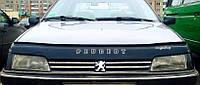 Дефлектор капота (мухобойка) Peugeot 405 1986-1997, Vip Tuning, PG23