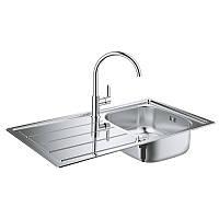 Набор кухонная мойка со смесителем Grohe EX Sink 31562SD0 K200 BauEdge 31367000
