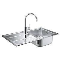 Набор кухонная мойка со смесителем Grohe EX Sink 31570SD0 K400 Concetto 32663001