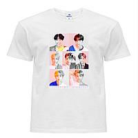 Футболка женская группы BTS (БТС) Белый (8976-1086)