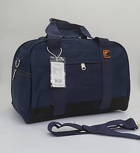 Удобная дорожная сумка синего цвета 44х30х23 см