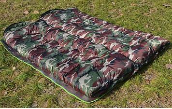 Спальний мішок, спальник, з капюшоном, ковдру, комуфляжный, туристичний, рибальський, до -30, теплий