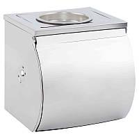 Держатель для туалетной бумаги закрытый Potato P300 с подставкой для освежителя
