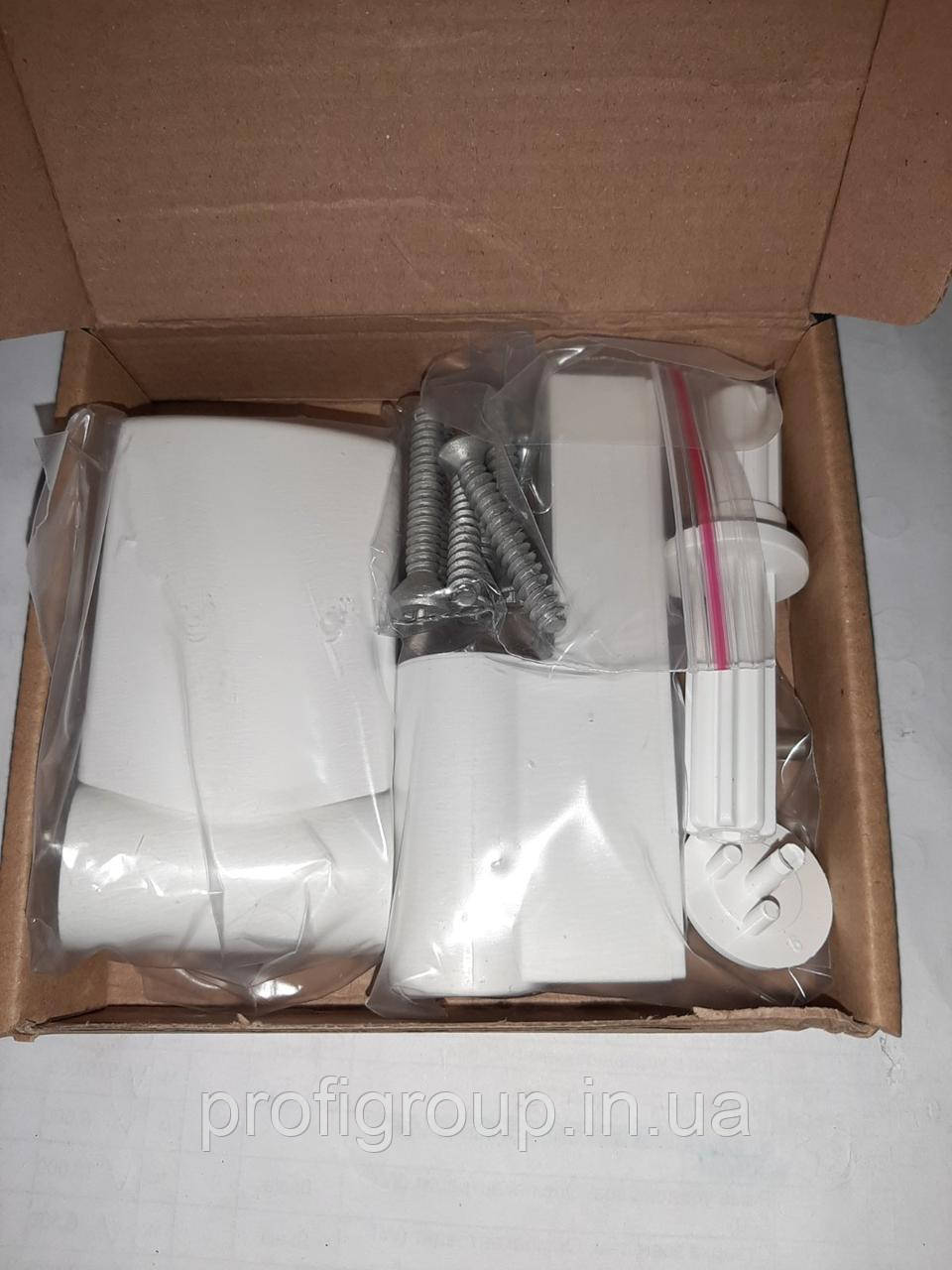 Vorne / Петля дверная VORNE пластик 18-22 мм / 90 кг белая для дверей ПВХ