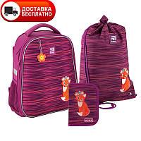 SET_K20-531M-3 Набор рюкзак + пенал + сумка для обуви Kite 531 Fox