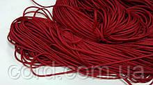 Шнур круглый 1мм 100м красный