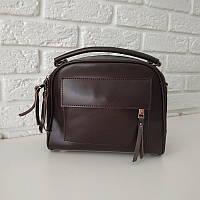 "Женская кожаная сумка-саквояж  ""Элизавет Brown"", фото 1"