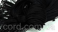 Шнур круглый 1мм 100м черный