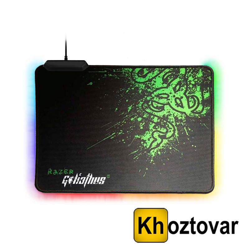 Килимок для комп'ютерної мишки з підсвічуванням RGB Razer R-350 | 25x35 см