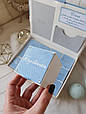"""Шкатулка для новонароджених з коробочками для пам'ятних речей """"Мамині скарби"""", фото 7"""